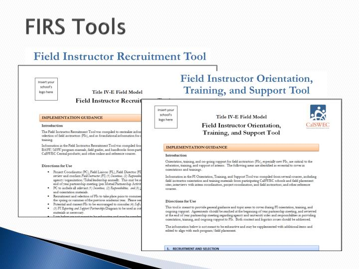 FIRS Tools