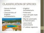 classification of species5