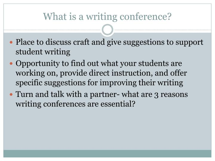 What is a writing conference