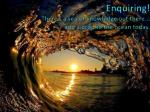 enquiring there s a sea of knowledge out there add a drop to the ocean today