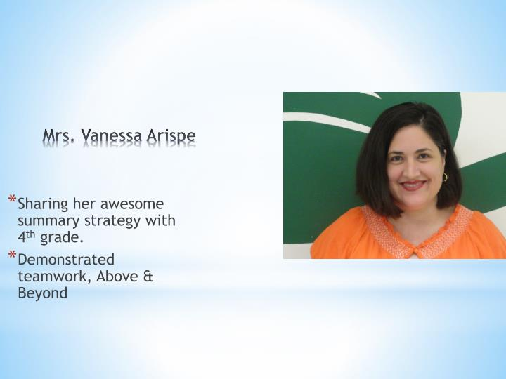 Mrs vanessa arispe