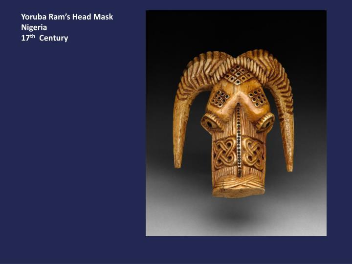 Yoruba Ram's Head Mask