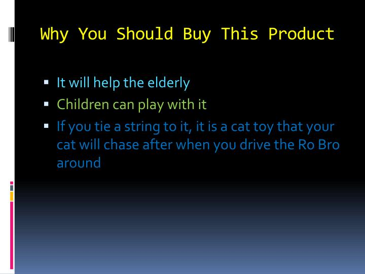 Why you should buy this product