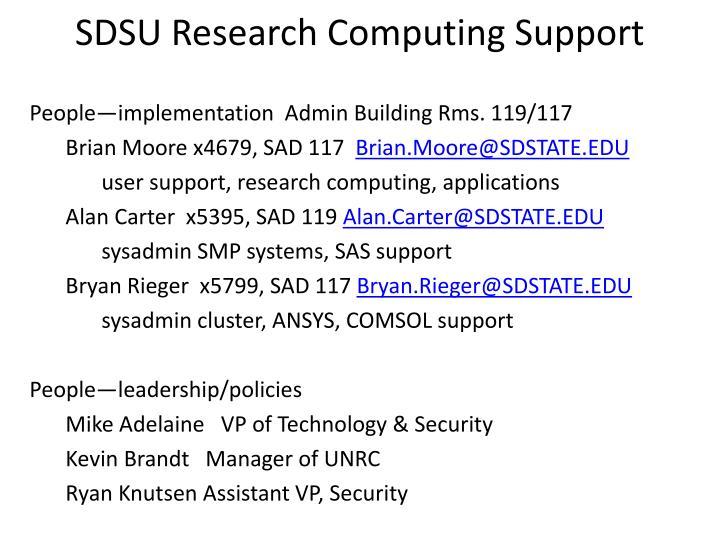 Sdsu research computing support