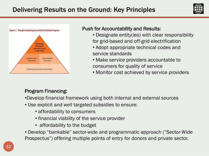 Delivering Results on the Ground: Key Principles