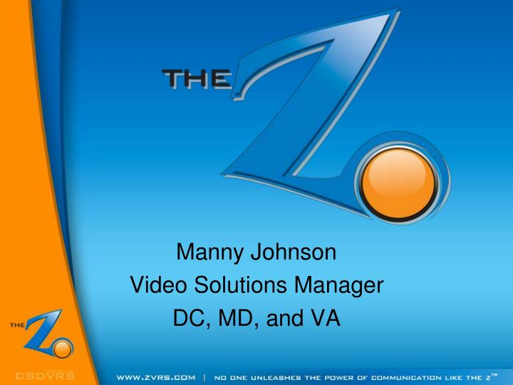 Manny johnson video solutions manager dc md and va