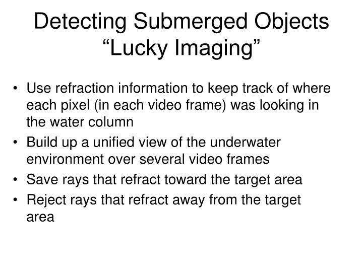 Detecting Submerged Objects