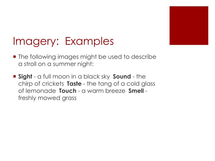Imagery:  Examples