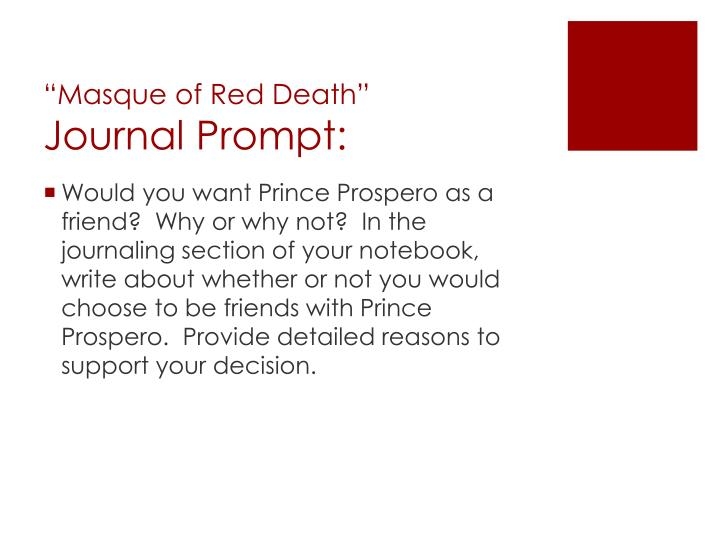 """""""Masque of Red Death"""""""