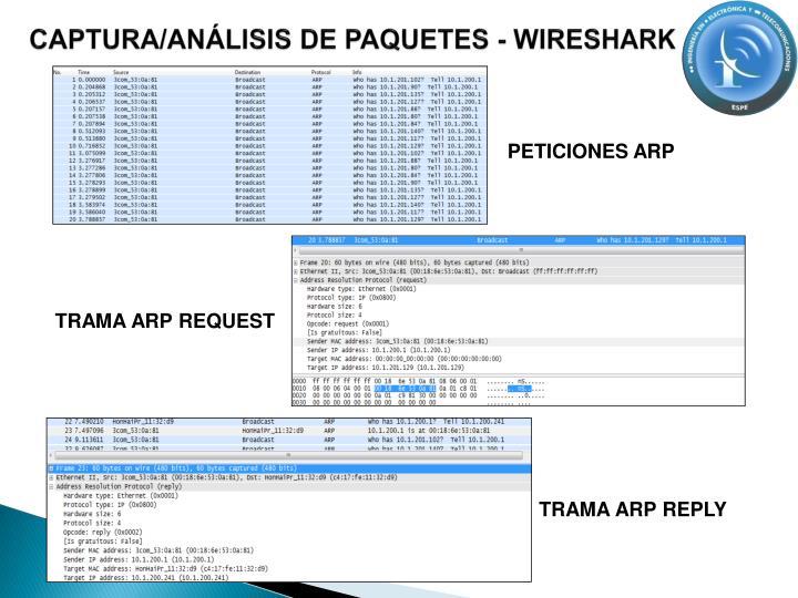 CAPTURA/ANÁLISIS DE PAQUETES - WIRESHARK