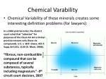 chemical varability