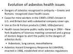 evolution of asbestos health issues
