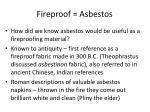 fireproof asbestos
