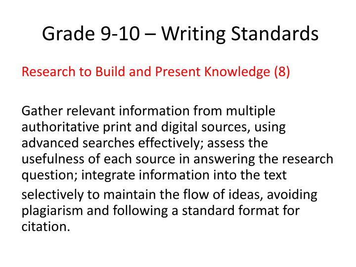 Grade 9 10 writing standards1