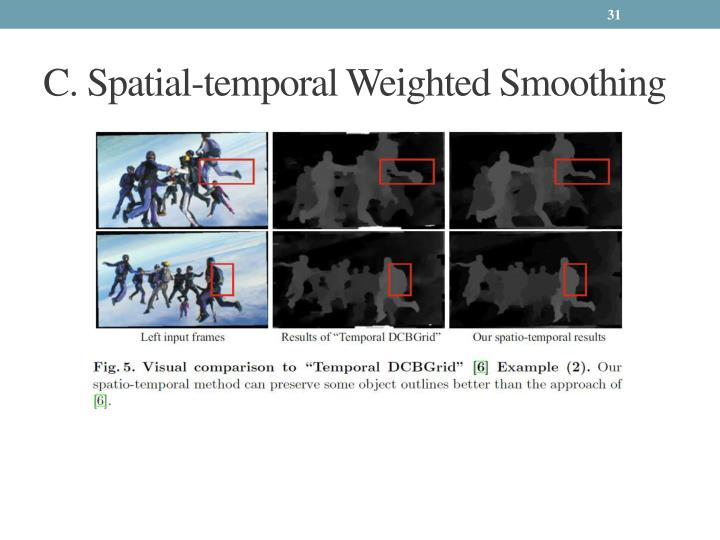 C. Spatial-temporal Weighted Smoothing