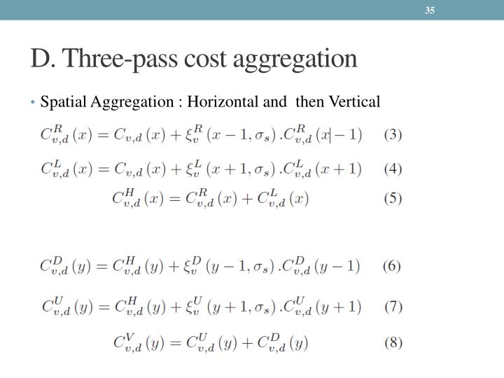 D. Three-pass cost aggregation