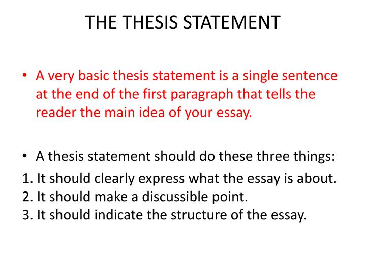 does a thesis statement need to be in the first paragraph The thesis statement usually appears at the end of the first paragraph of a paper early in your paper i should be able to locate the thesis statement if i ask you where is the thesis statement you should be able to point to it immediately.
