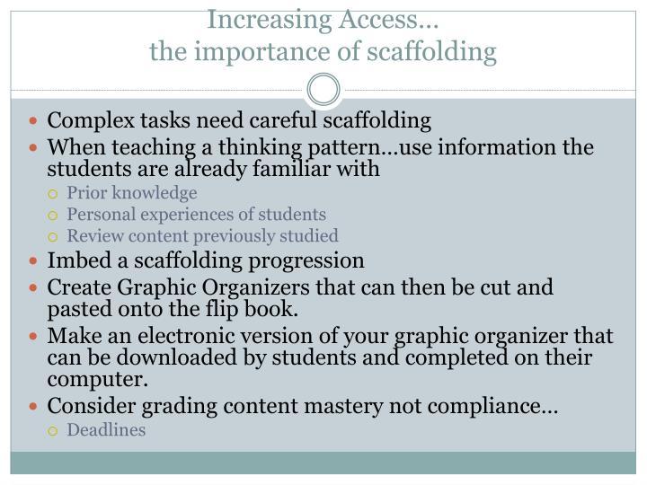 Increasing Access…