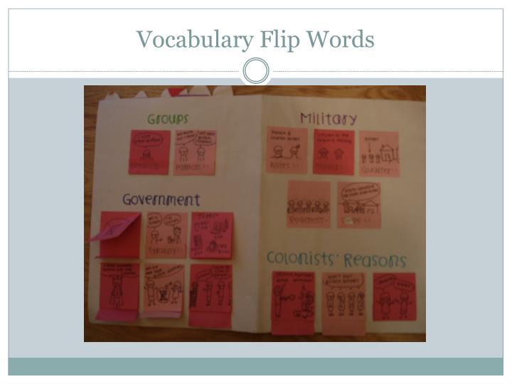 Vocabulary Flip Words