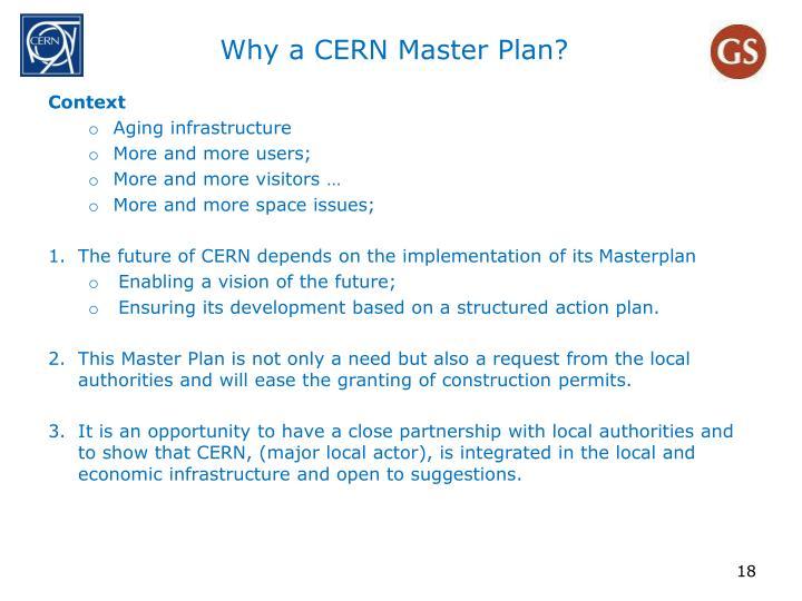 Why a CERN Master Plan?