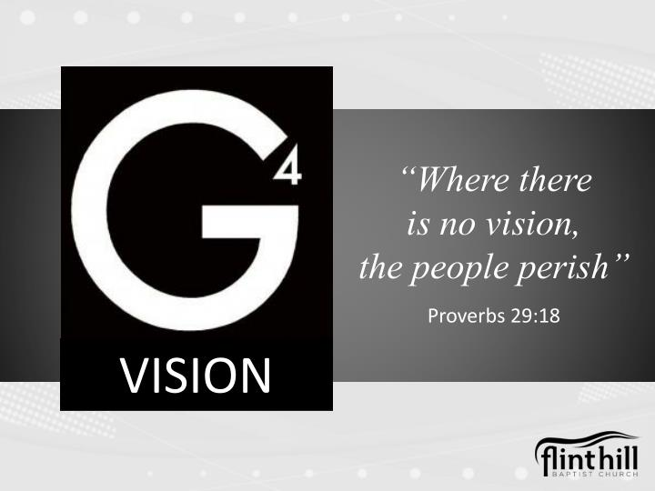 Where there is no vision the people perish proverbs 29 18
