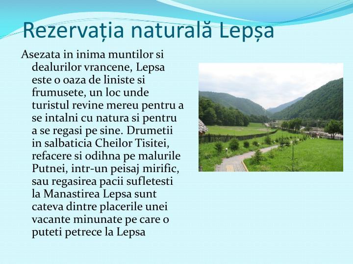 Rezervația naturală Lepșa