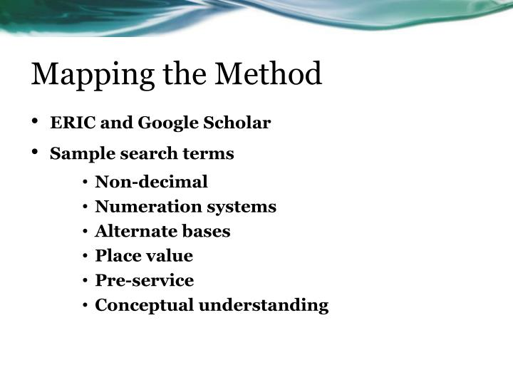 Mapping the Method