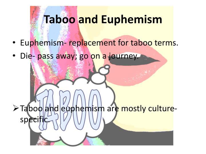 Taboo and Euphemism