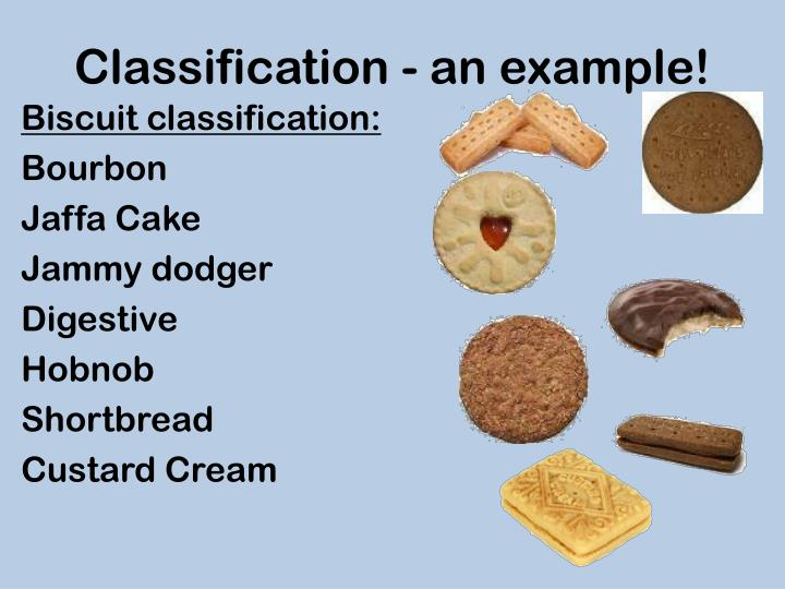 Classification - an example!