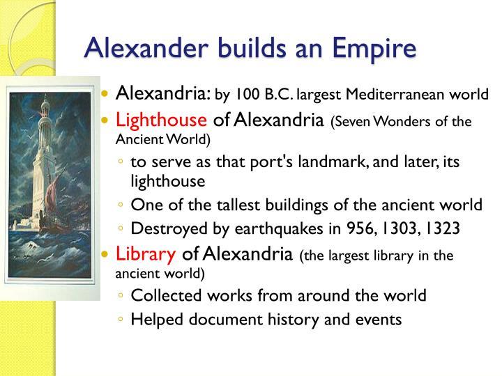 Alexander builds an Empire