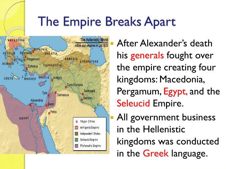 The Empire Breaks Apart