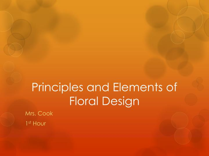 principles and elements of floral design n.