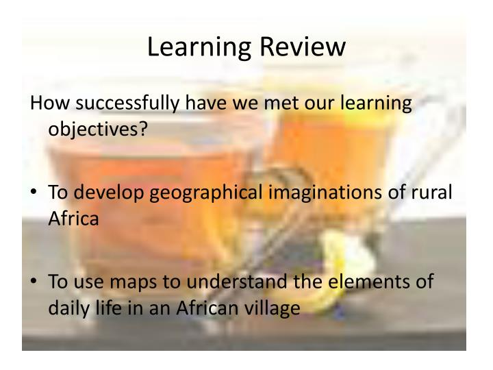 Learning Review