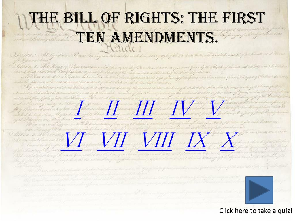 PPT - The Bill of Rights For 12 th Grade Civics PowerPoint
