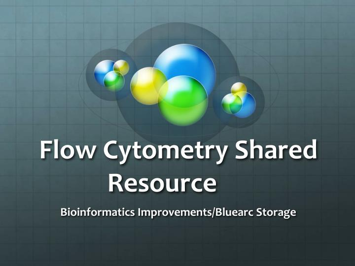 flow cytometry shared resource n.