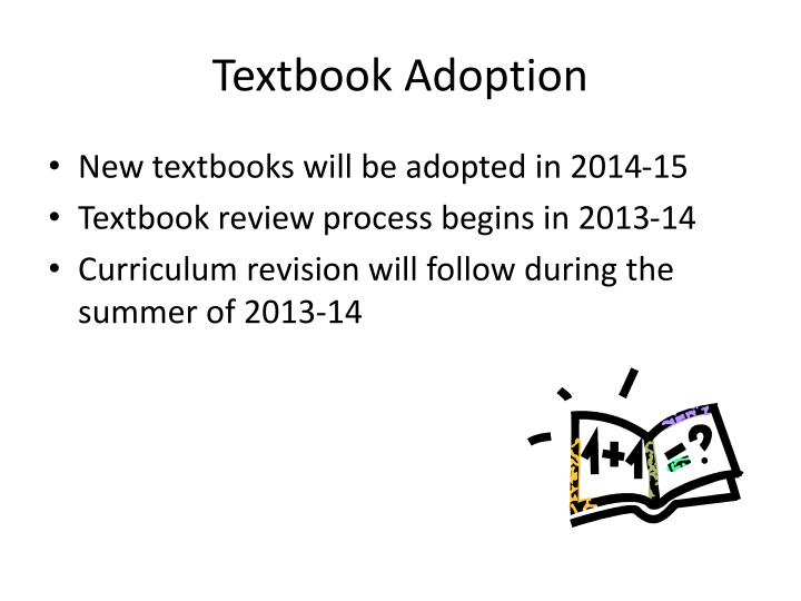 Textbook Adoption