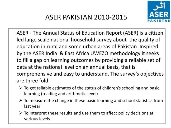 Aser pakistan 2010 2015
