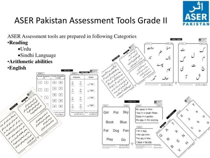 ASER Pakistan Assessment Tools Grade II