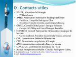 ix contacts utiles