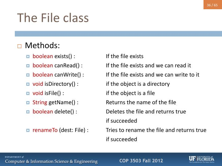 The File class
