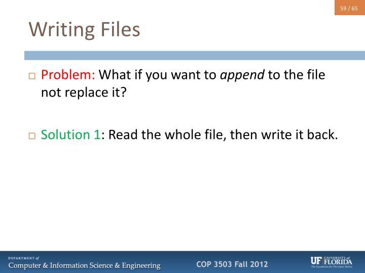 Writing Files