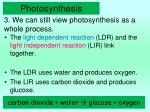 3 we can still view photosynthesis as a whole process
