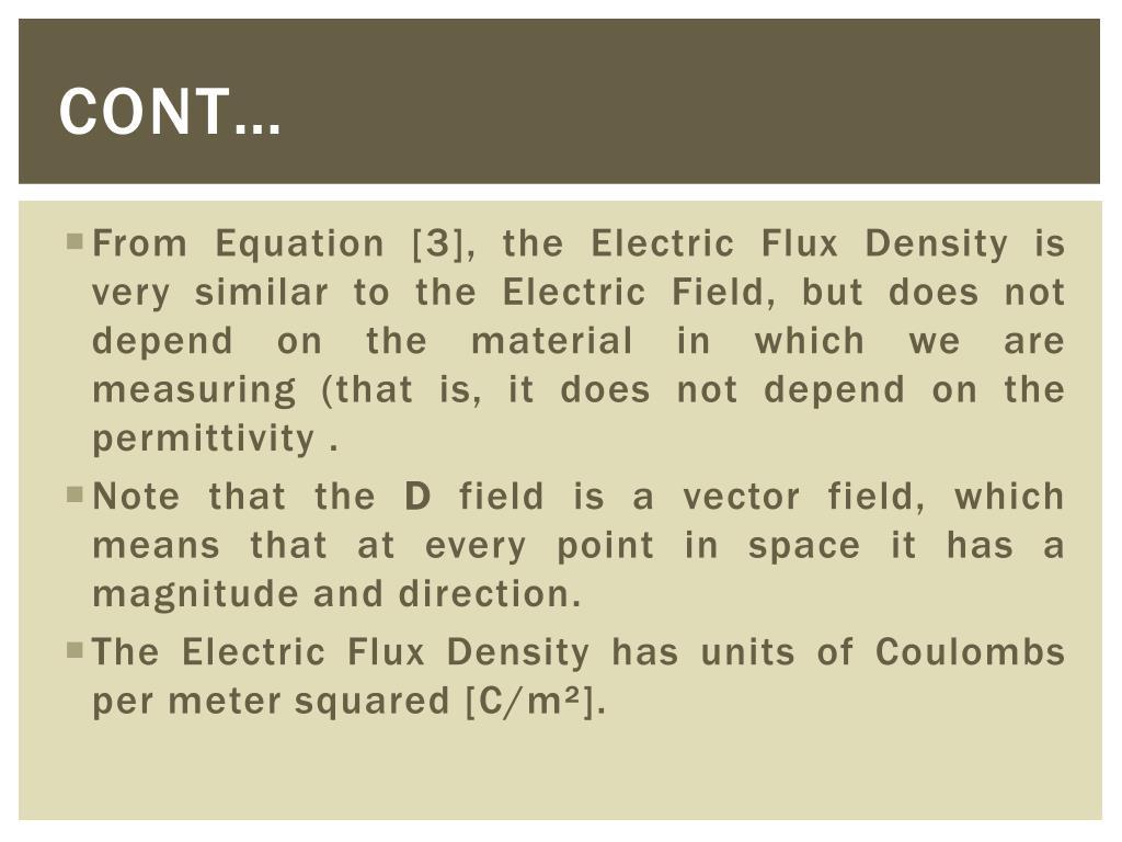 PPT - Electric flux & Electric flux Density PowerPoint