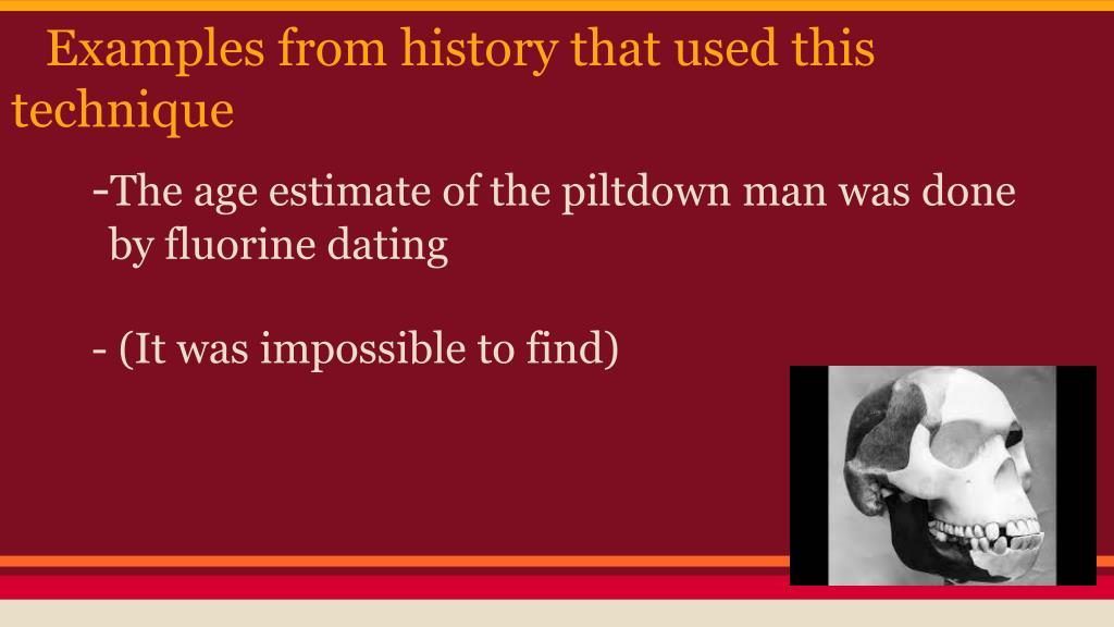 piltdow om fluorina dating