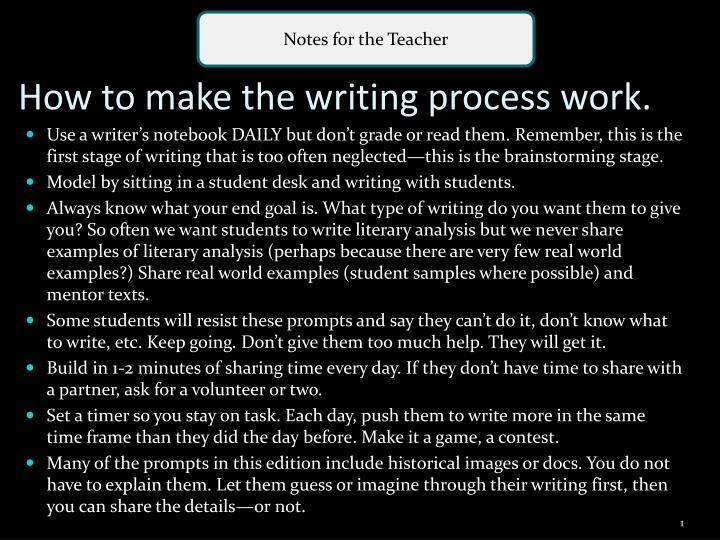how to make the writing process work n.