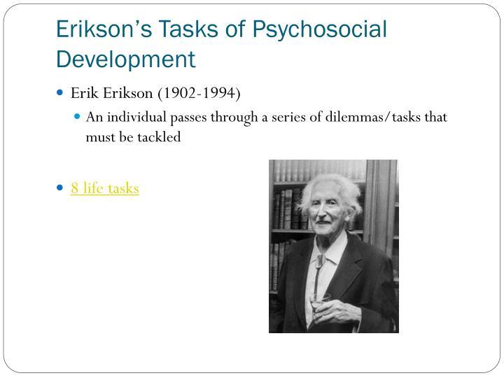 Erikson's Tasks of Psychosocial Development