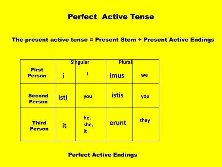Perfect  Active Tense