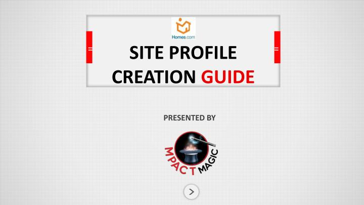 site profile creation guide n.