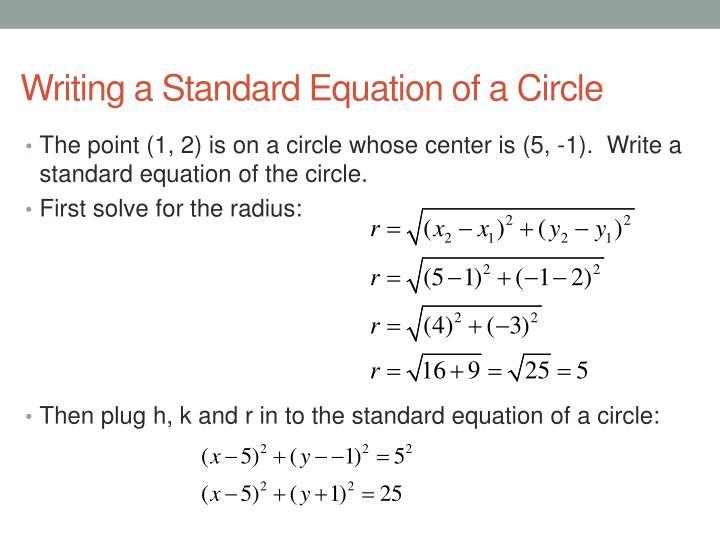 standard equation of a circle tessshebaylo. Black Bedroom Furniture Sets. Home Design Ideas