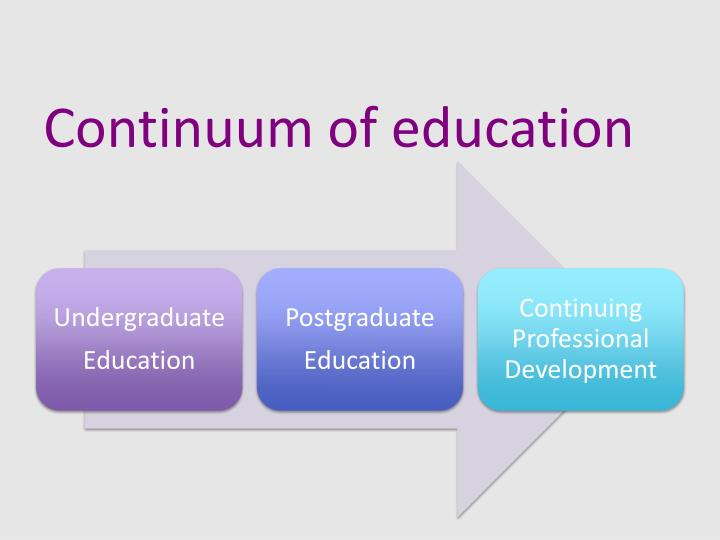 Continuum of education